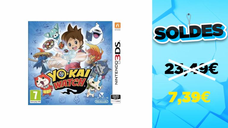 Soldes d'hiver 2021 : le jeu Yo-Kai Watch pour 3DS à 7,39€
