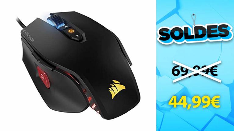 Soldes Corsair : La souris M65 Pro Noire RGB en promotion de 36% - jeuxvideo.com