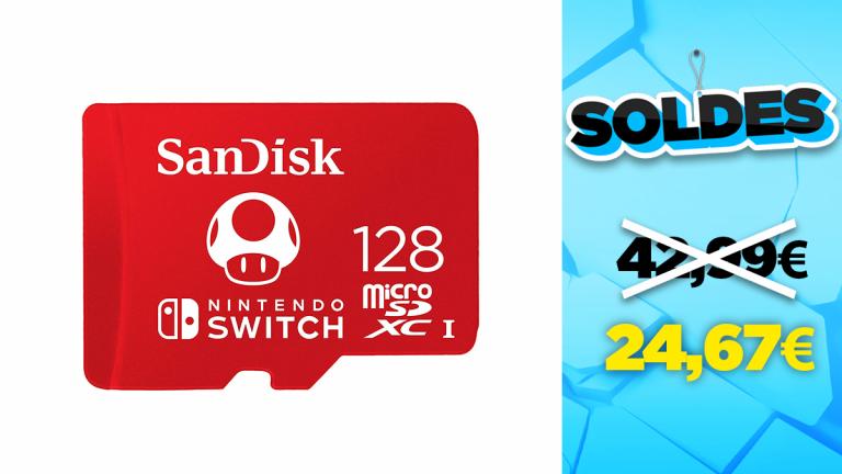 Soldes SanDisk : -43% sur la carte mémoire microSDXC 128Go