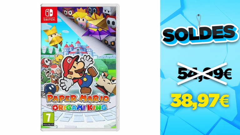 Bon plan Nintendo : -29% sur Paper Mario The Origami King