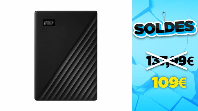 Soldes WD :  -20% de réduction sur le disque dur externe 4To
