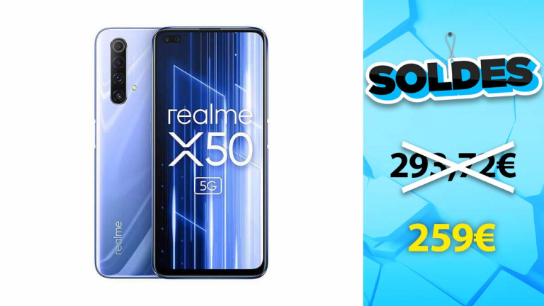 Soldes Smartphones :  Realme X50 5G en baisse de prix