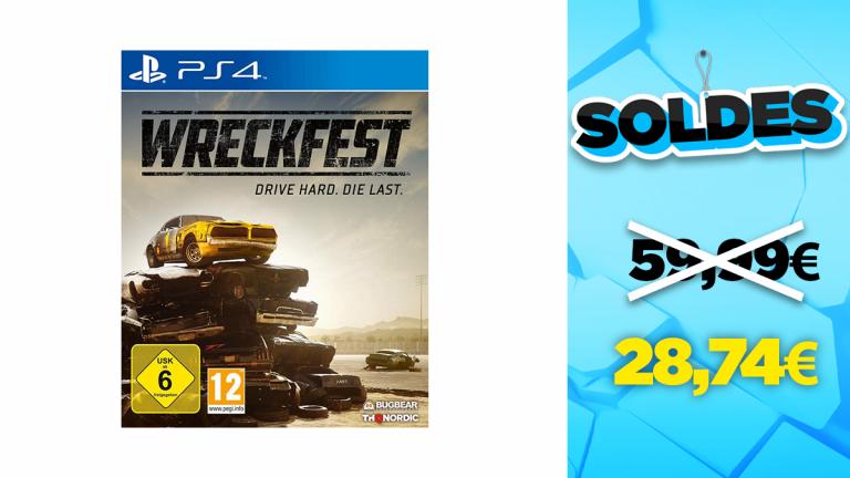 Soldes PS4 : Wreckfest en réduction à -52%