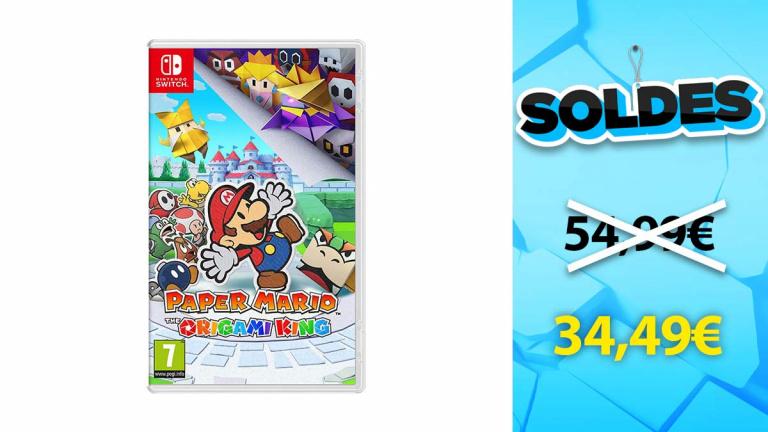 Soldes Nintendo : Paper Mario Origami King en promotion