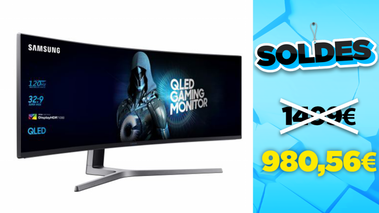 """Soldes Samsung : l'écran gamer incurvé 49"""" en réduction à -35%"""