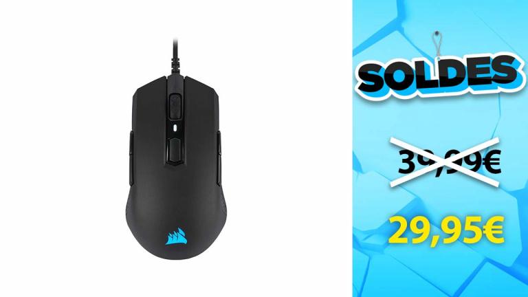 Soldes Corsair : Souris gaming M55 PRO RGB en promotion
