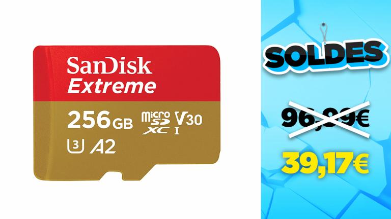 Soldes SanDisk : la carte microSD Extreme 256Go en réduction à -60%