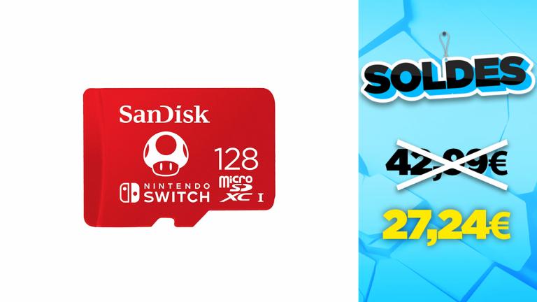 Promo Nintendo : La carte microSD 128Go à -37%