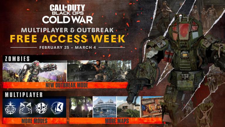Call of Duty Black Ops Cold War : un essai gratuit du 25 février au 4 mars (Multijoueur et Outbreak)