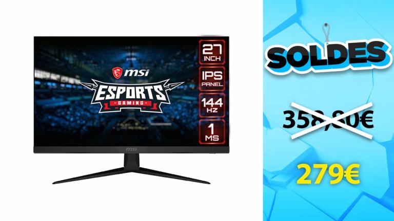 Soldes MSI : L'écran Optix G271 en baisse de 22%