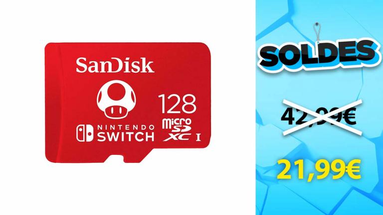 Soldes Sandisk : La carte micro SDXC 128 Go pour Switch à -49%