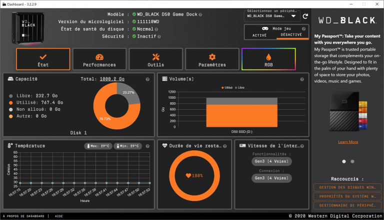 Test du WD Black D50 Game Dock : bien plus qu'un SSD externe ultra rapide !