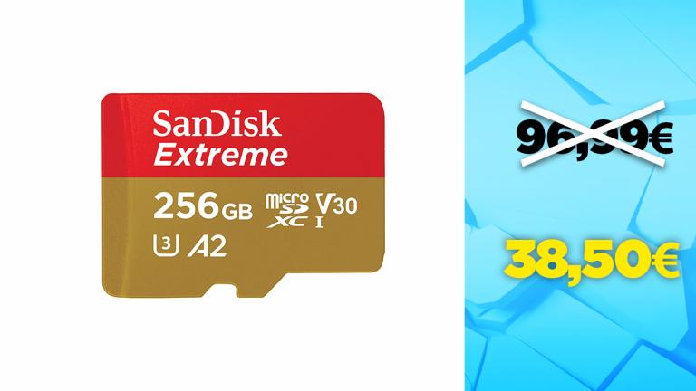 Bon plan SanDisk : -60% sur la carte microSD 256Go