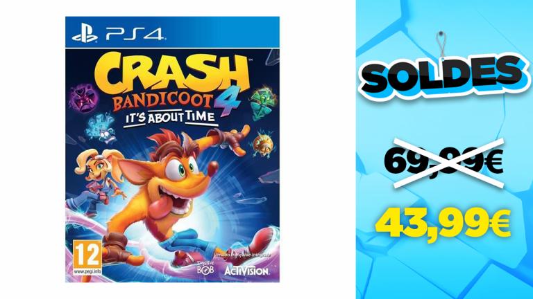 Bon plan PS4 : -37% sur Crash Bandicoot 4 : It's About Time
