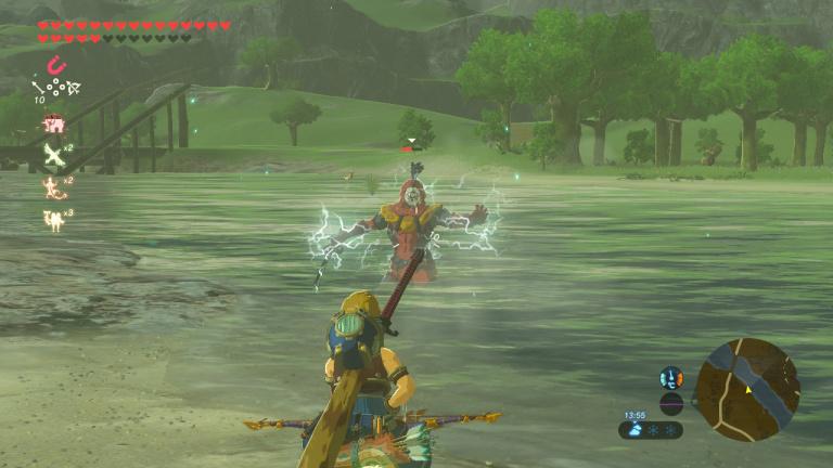 Tirer des flèches électriques dans l'eau pour électrifier les ennemis
