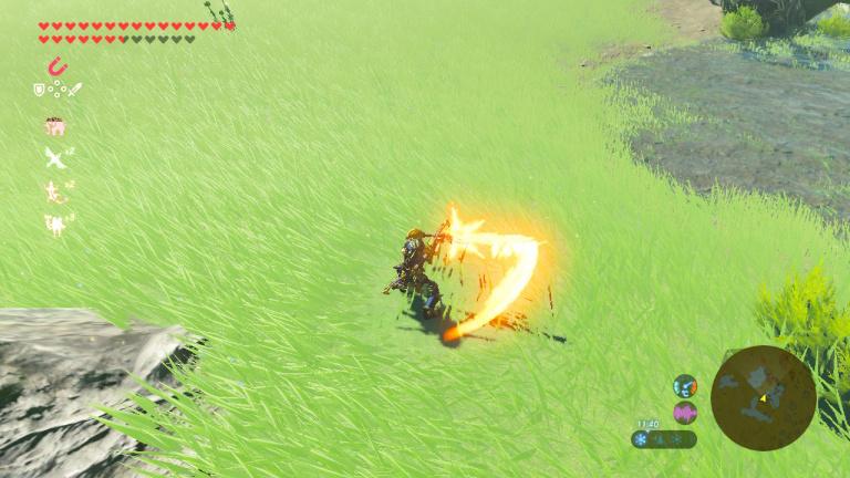 Tirer des flèches enflammées ou explosives sur les pics
