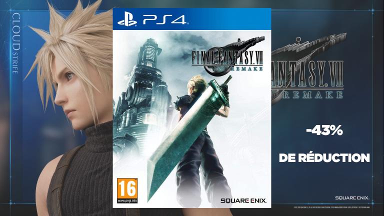 Final Fantasy VII Remake : -43% de réduction sur la version PS4