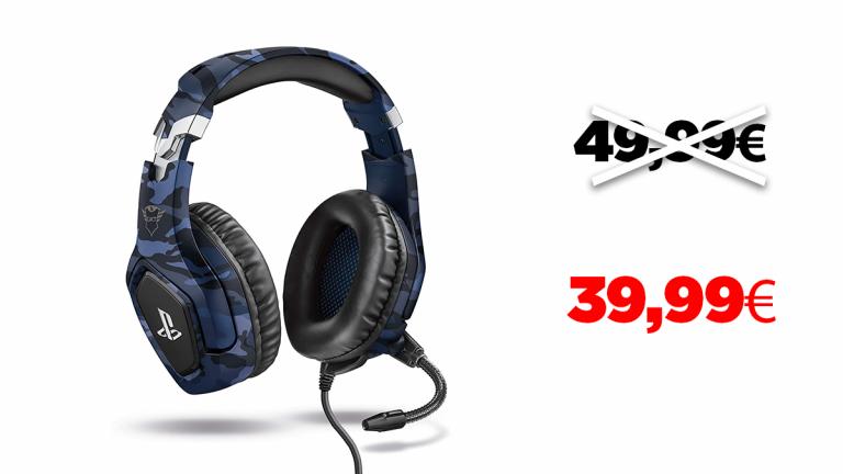 -20% sur le casque PS4 Trust Gaming GXT 488 FORZE