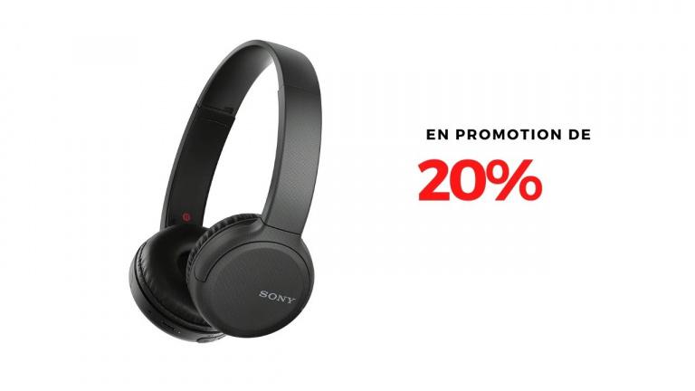 Le Casque audio Sony WH-CH510 en promotion de 20%