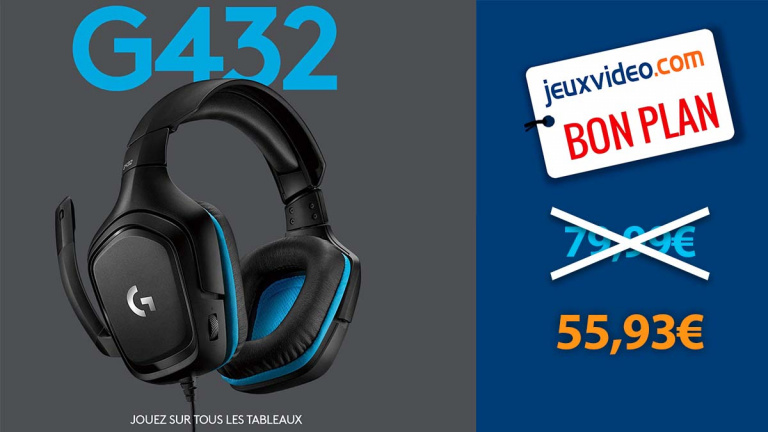 Le casque gaming Logitech G432 en promotion de 30%