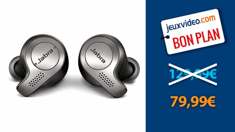 Ecouteurs Jabra Elite 65T en promotion de 38% chez Amazon