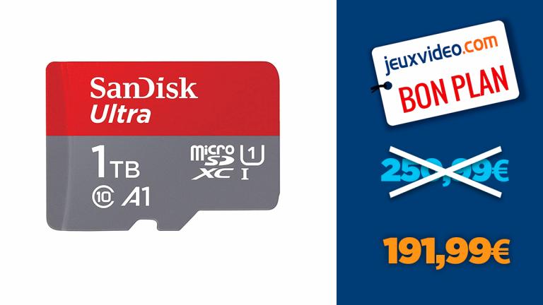Bon plan Sandisk : -24% sur la microSD 1To