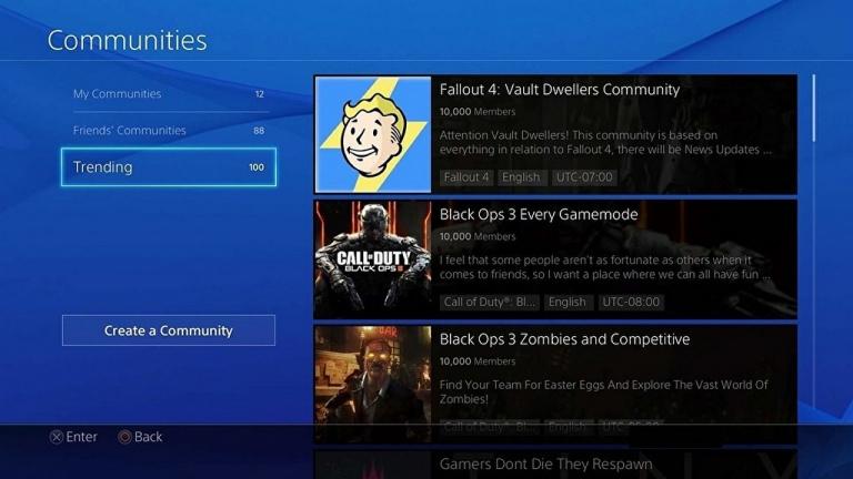 PS4 : la fonctionnalité Communautés disparaîtra en avril