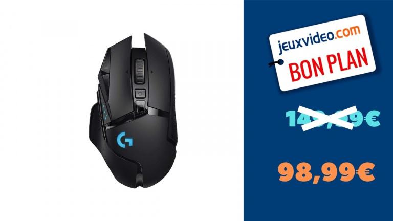 La souris Gaming Sans Fil Logitech G502 en promotion de 34%