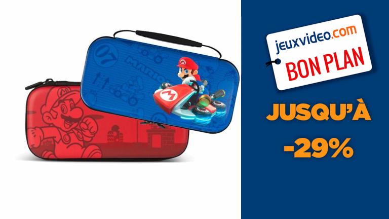 Jusqu'à -29% sur des sacoches Nintendo Switch aux couleurs de Super Mario