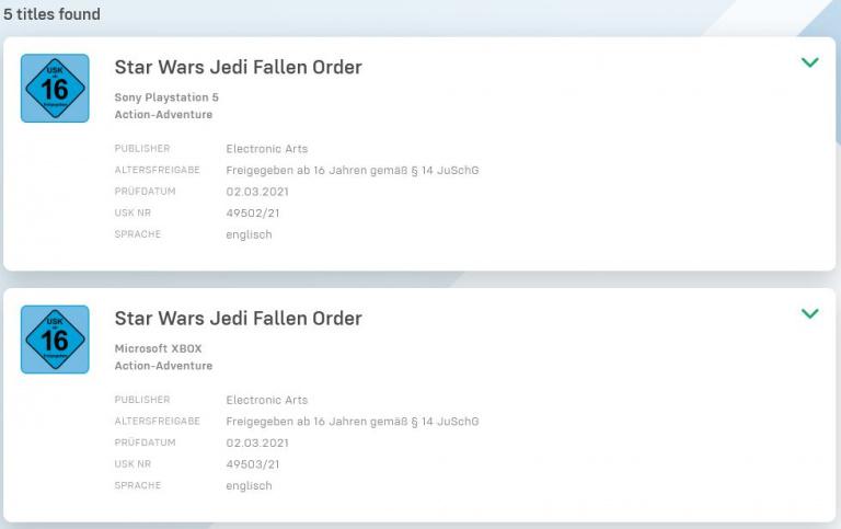Star Wars Jedi : Fallen Order : Des versions PS5 et Xbox Series prévues ?