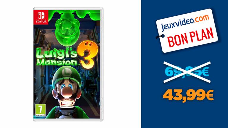 Réduction sur Luigi's Mansion 3 : -36% sur le jeu