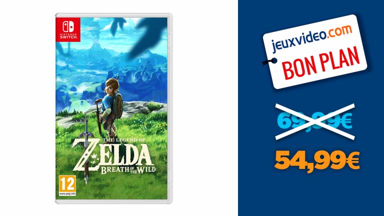Bon plan Nintendo Switch : The Legend of Zelda Breath of the Wild à -21%