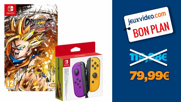 Dragon Ball FighterZ sur Nintendo Switch + une paire de Joy-Con à -33%
