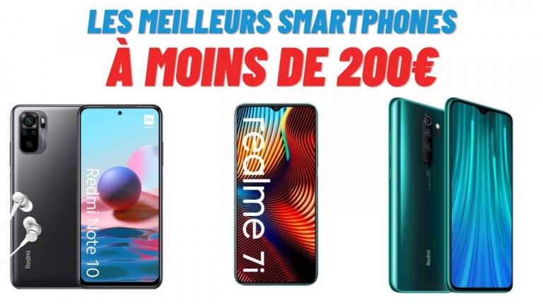 Quels sont les meilleurs smartphones à moins de 200€ en 2021 ?
