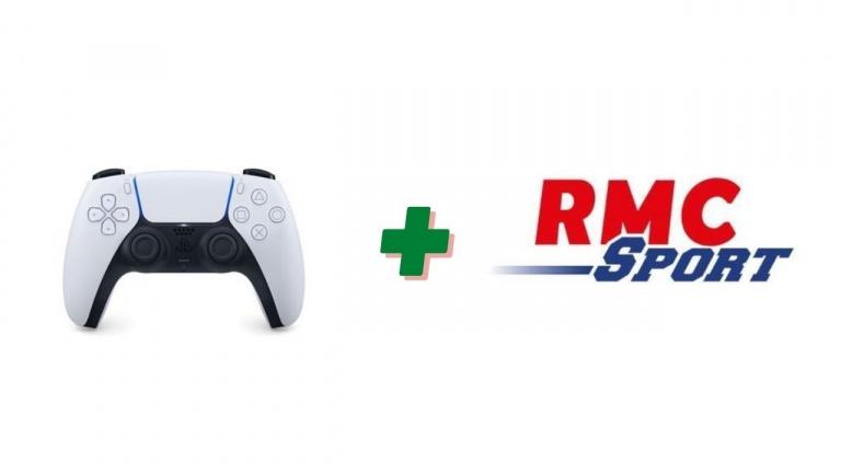 Un mois d'abonnement RMC Sport offert pour l'achat d'une manette PS5 Dualsense