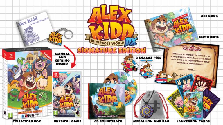 Alex Kidd in Miracle World DX : Daté, le titre présente son édition collector