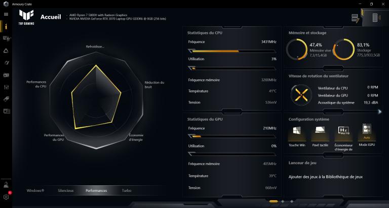 Test PC portable Asus TUF A15 : le meilleur moyen de jouer sur une GeForce RTX 3070 en 2021