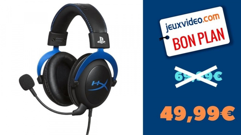 Promo PS4 : Casque gamer HyperX HX édition PlayStation