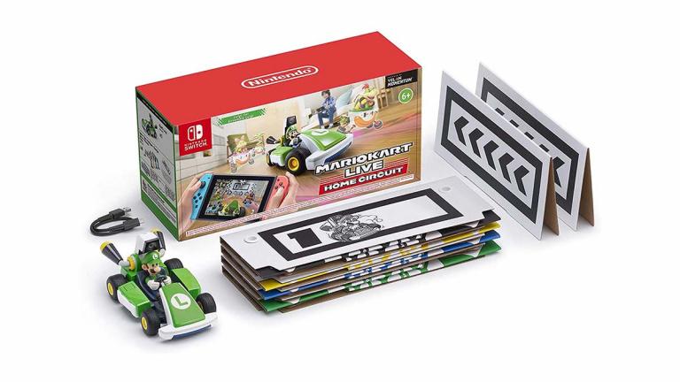 Mario Kart Live Home Circuit Luigi avec voiture téléguidée toujours disponible à moins de 100€