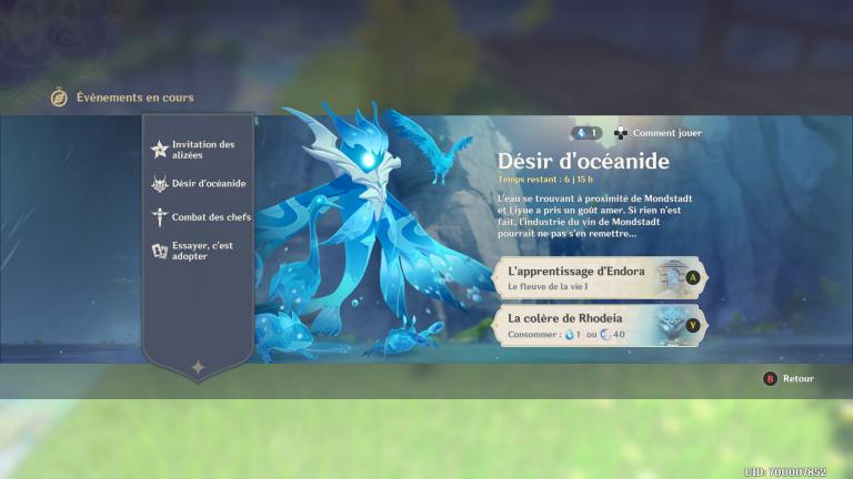 """Genshin Impact, notre guide sur l'événement """"Désir d'océanide"""" (5ème jour)"""
