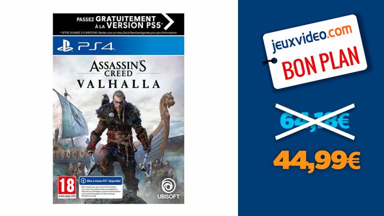 Assassin's Creed Valhalla en promo à moins de 45€
