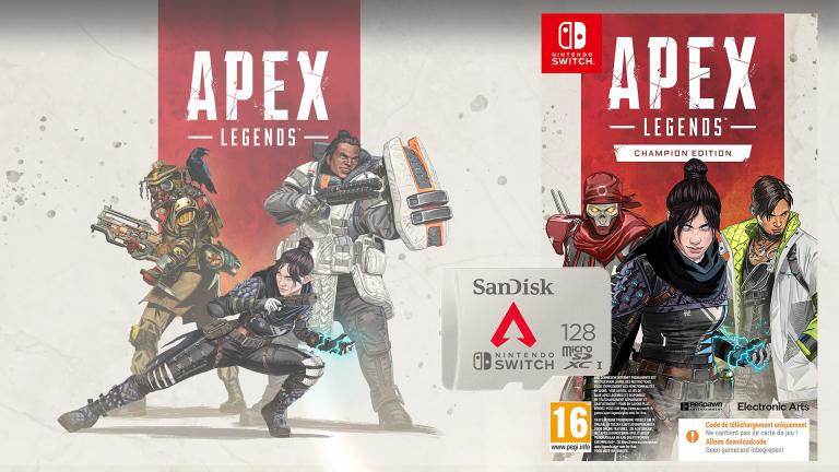 Promo Apex Legends : la carte microSDXC 128Go fournie avec le jeu sur Nintendo Switch