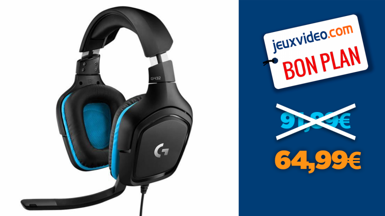 -30% sur le casque gamer Logitech G432 surround 7.1