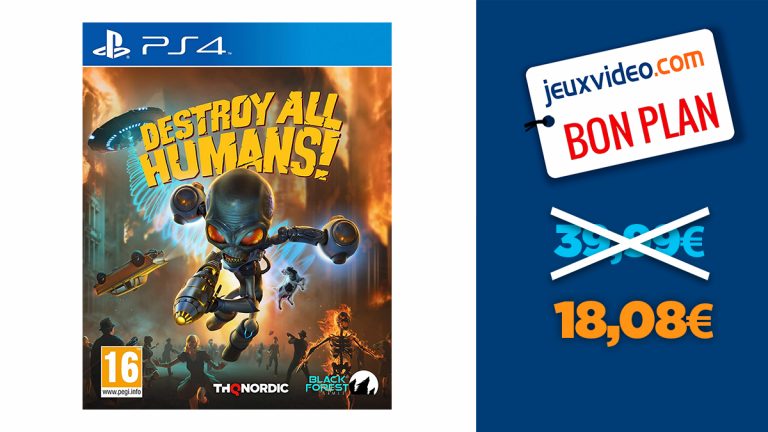 Détruisez l'humanité : Destroy All Humans! sur PS4 est en promo à -55%