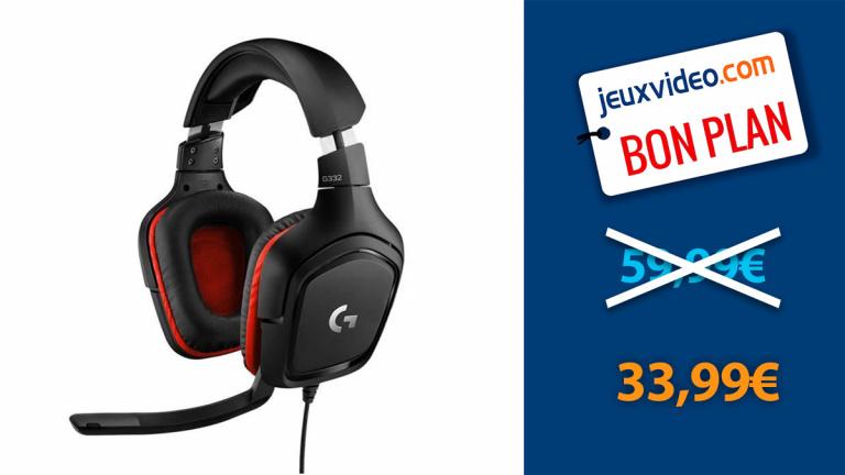 Le casque gamer Logitech G332 au prix le plus bas depuis son lancement