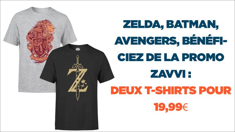 19,99€ la paire de T-shirts Zelda, Star Wars, Batman...