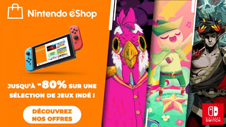 Nintendo eShop : Jusqu'à 80% de réduction sur les jeux indé' avec la promo Indie World !