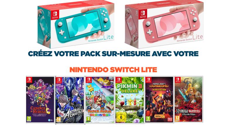 Offre spéciale Nintendo Switch Lite : un jeu + un écran de protection+ 10€ de remise