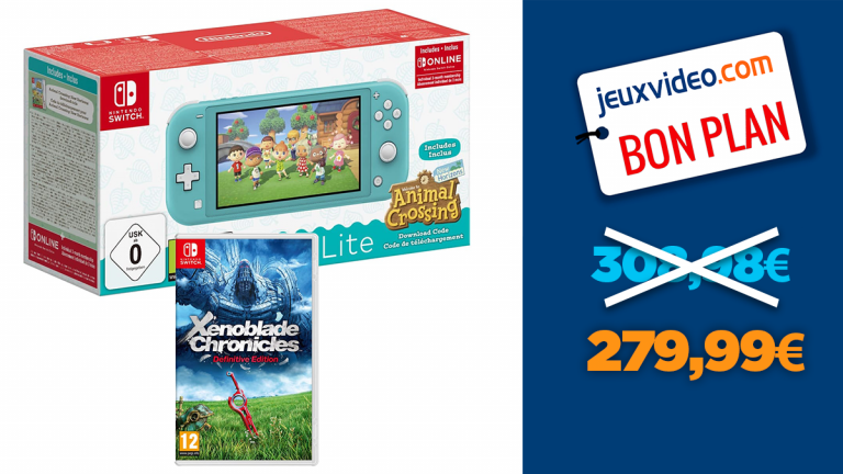 Nintendo Switch Lite Animal Crossing + Xenoblade Chronicles : promotion sur le pack