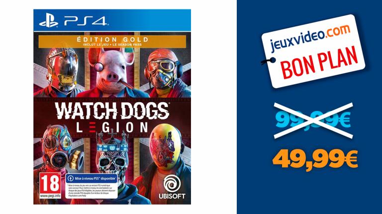 -50% sur Watch Dogs Legionen édition Gold sur PS4